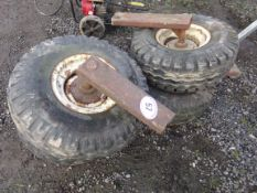 4 WHEELS & STUB AXLES 10.O / 80-12 TYRE