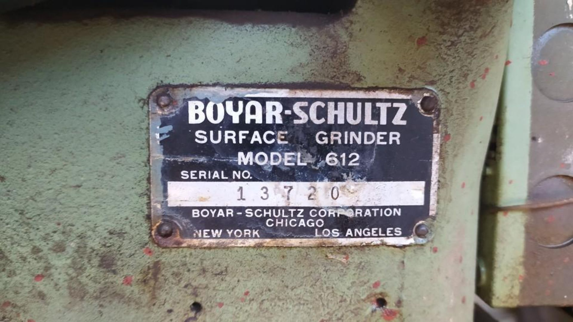 Lot 39 - BOYAR SCHULTZ SURFACE GRINDER; MODEL 612