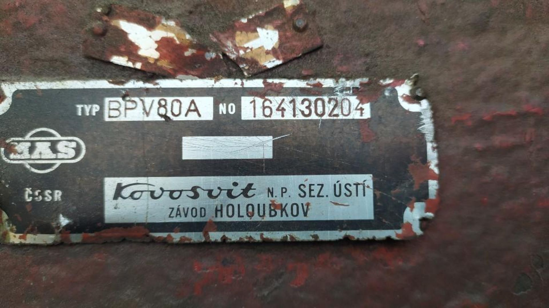 Lot 42 - KOVOSVITROTORY HEAD SURFACE GRINDER; MODEL BPV80A