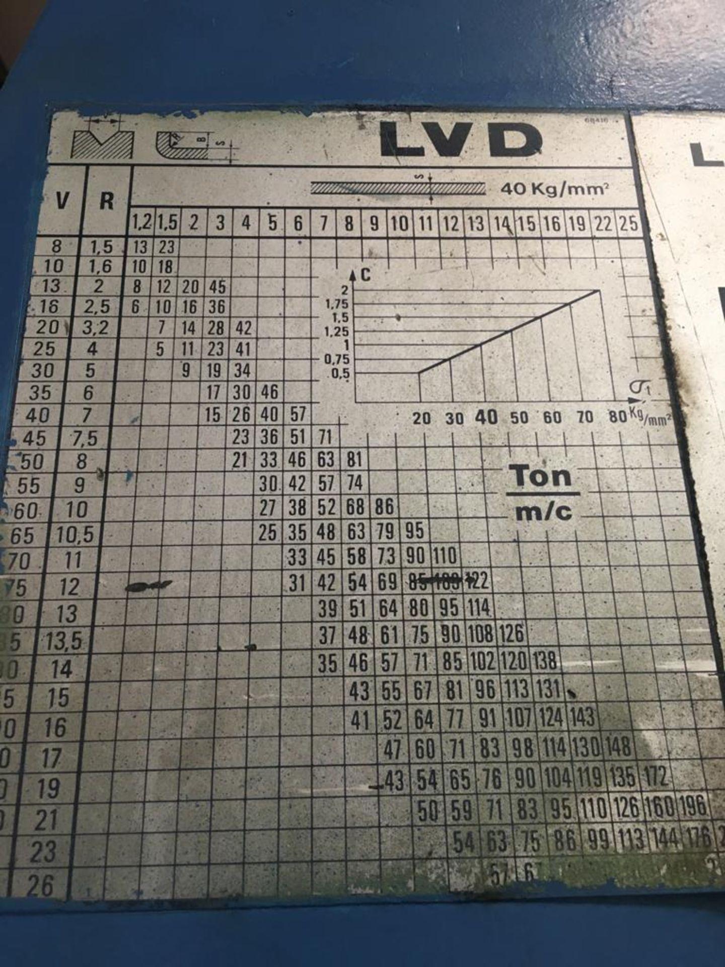 Lot 32 - LVD 70 TON HYDRAULIC PRESS BRAKE; TYPE PP70/25-30