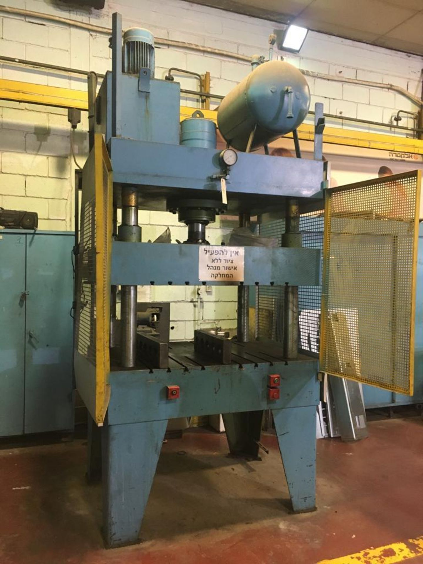 Lot 35 - FOUR POST HYDRAULIC PRESS; 50 TON APPROX.