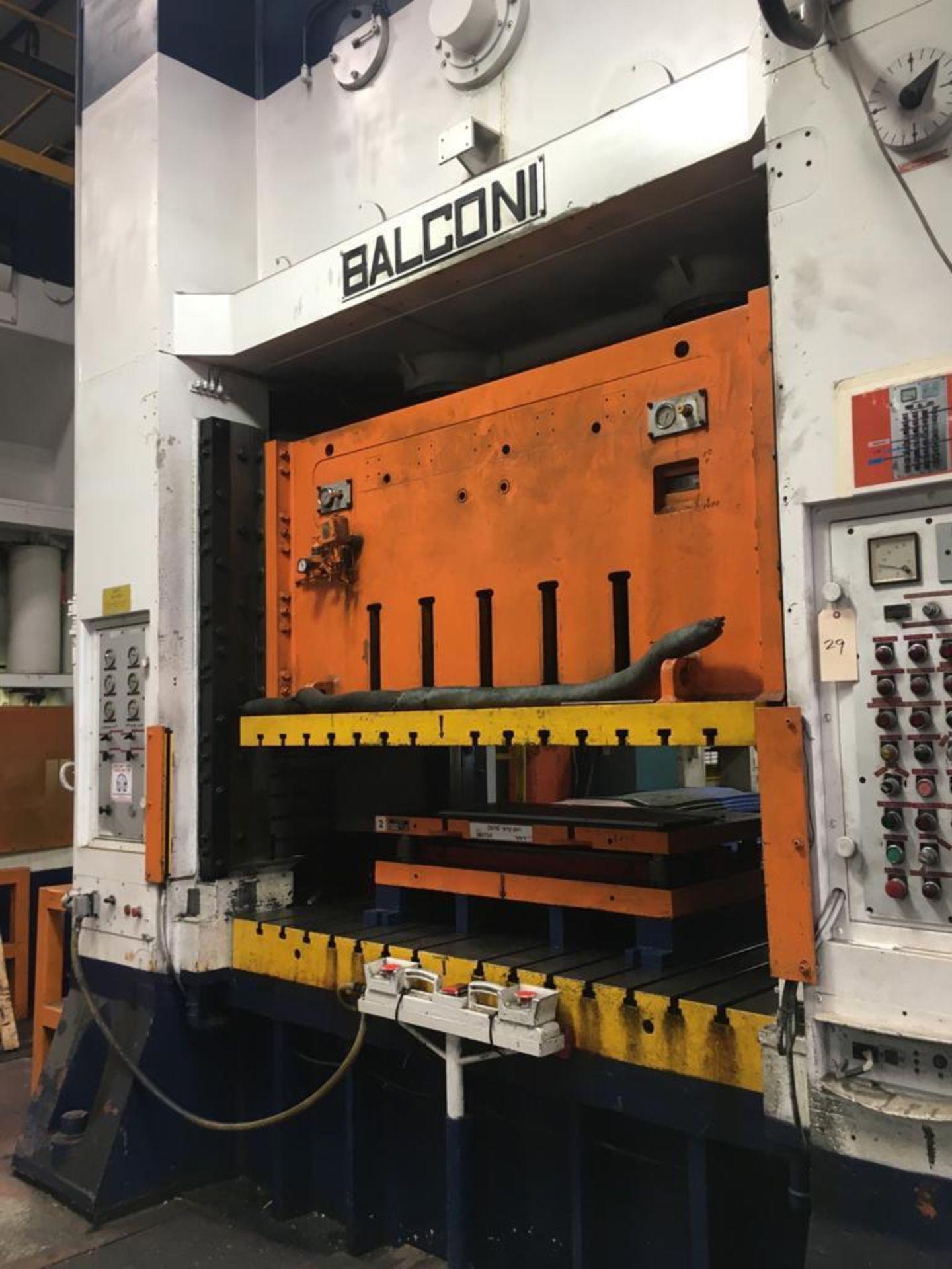 Lot 29 - BALCONI 400 TON HYDRAULIC STAMPING PRESS