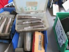 LOT OF REAMERS & END MILLS