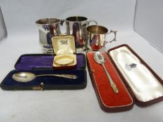 An Asprey silver childs spoon, with Humpty Dumpty finial, in fitted presentation box, London 1964,