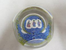 Geoffrey Baxter for Whitefriars - a Three Wise Men Christmas glass paperweight, Limited Edition of