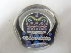 Whitefriars - a glass Silver Jubilee paperweight, 1977; with box (2)