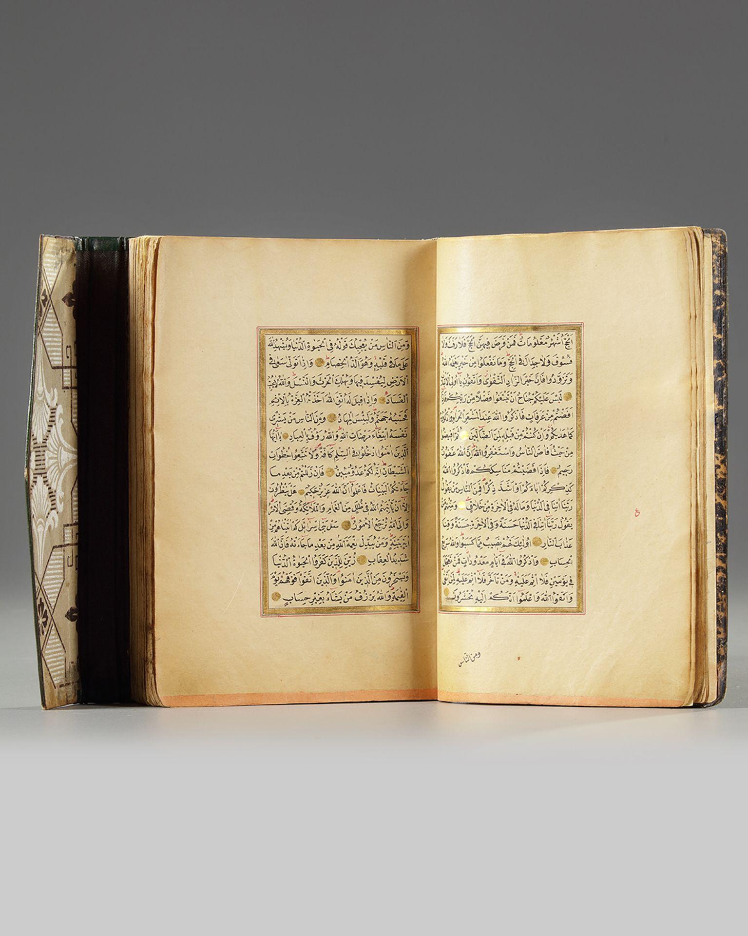 An Ottoman gilt decorated Quran - Bild 2 aus 3