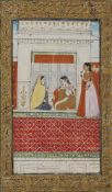 WOMEN IN A TEMPLE, INDIA, JAIPUR, 18TH CENTURY