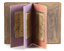 A CALLIGRAPHIC ALBUM, WITH LATER ATTRIBUTION TO AHMAD QARAHISARI, TIMURID IRAN, 15TH CENTURY