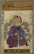 AN OTTOMAN SEATED GRAND VIZIER OR AN IMPORTANT PERSON BELONGING TO THE SULTANATE, 18TH-19TH CENTURY