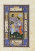 A PERSIAN DOUBLE-SIDED MINIATURE, ISFAHAN SCHOOL, 18TH CENTURY