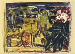 Goltzsche, Dieter(geb. 1934 Dresden, lebt in Berlin)Im TierparkOriginal-Offset mit farbigen