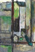 Böttcher, Joachim (geb. 1946 Oberdorla/Thür., lebt in Berlin)Atelierblick in die Schwedter Straße (