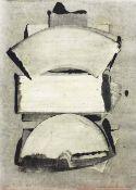 Dennhardt, Klaus(geb. 1941 Dresden, lebt in Dresden-Uebigau)Ohne TitelMonotypie, 23.10.1985,