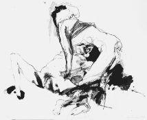 Fischer, Steffen(geb. 1954 Dohna, lebt in Dresden)GänsehautZinkographie, 1989, 585x705, sign., dat.,