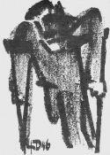 Dähn, Fritz(Heilbronn 1908 - 1980 Heilbronn, lebte in Berlin)Seit 1948 Professor und Direktor der