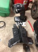 2 Hilti 24 v batteries & flashlight