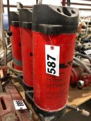 Lot of 3 Hilti water supply tanks 10 liter