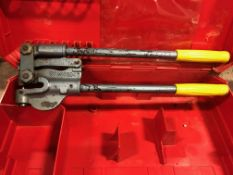 Roper Whitney no. 7A portable punch in Hilti case