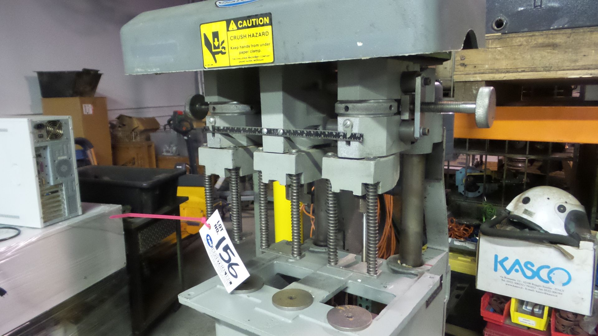 Lot 156 - Challenge EH-3A 3-Head Paper Drill 208/230V s/n: 74791