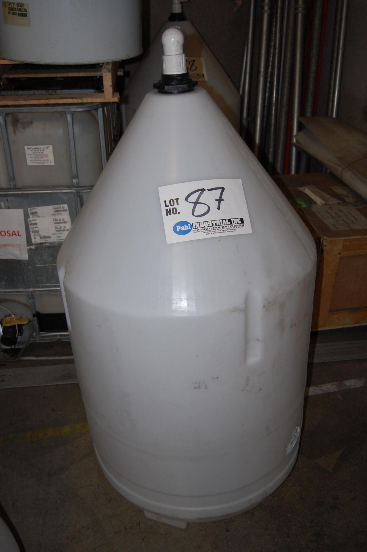 Lot 87 - Ace Roto-Mold 110 Gallon Inductor Full Drain Cone Bottom Tank