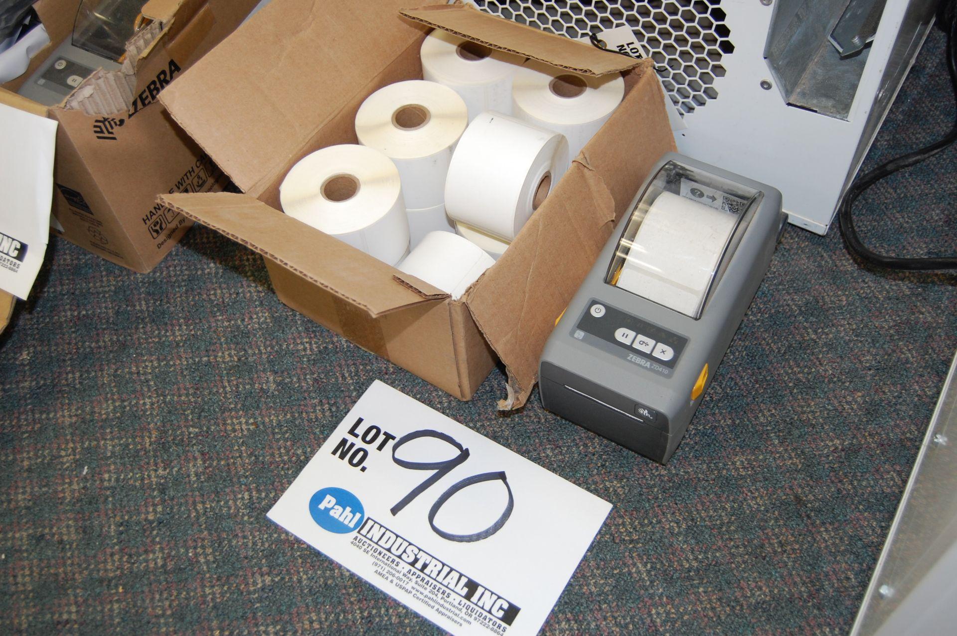 Lot 90 - Zebra ZD410 Direct Thermal Barcode Printer