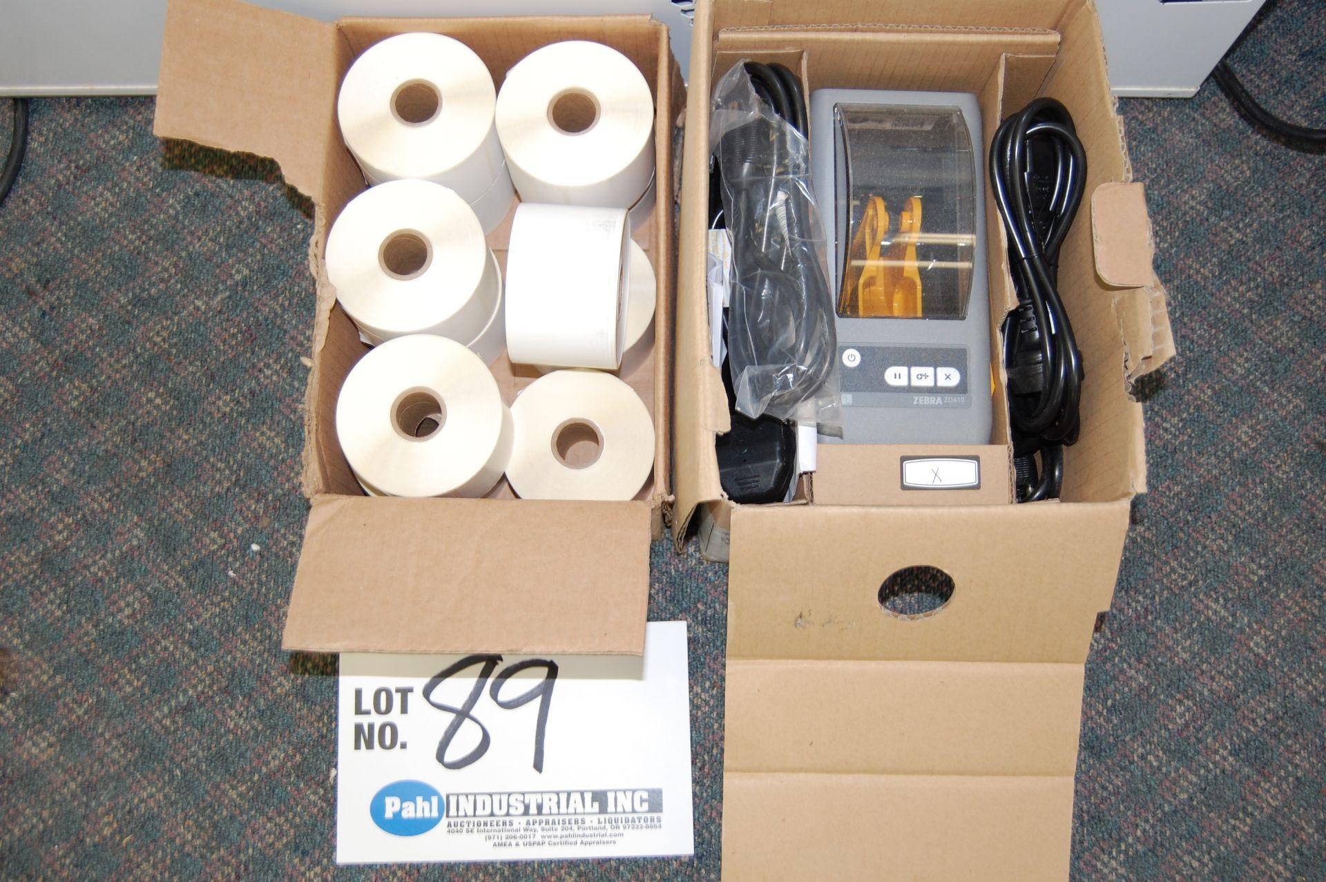 Lot 89 - Zebra ZD410 Direct Thermal Barcode Printer New In Box