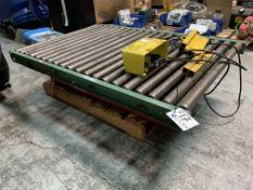 Southworth 750 lb. Scissor Lift w/5' X 3' Roller Table