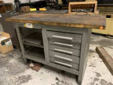 "Kennedy 5 drawer Tool Bench 54"" X 20"" wood top"