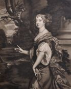 After Sir Peter Lely (1618-1680) British. Elizabeth Countess of Northumberland, Engraving, 16.25""