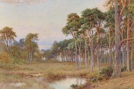 Harry Sutton Palmer (1854-1933) British. A River Landscape, by a Wooded Glade, Watercolour,