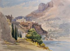 "19th Century English School ""Monaco"" Watercolour, Inscribed and Dated 1859 in Pencil Unframed, 9"""