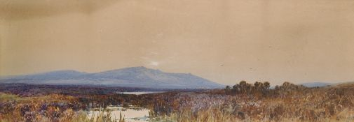 "Frederick John Widgery (1861-1942) British. A Moorland Scene, Watercolour, Signed, 11.5"" x 31"" (29.2"