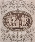 After Giovanni Battista Cipriani (1727-1785) Italian. Study of Putti with Fire, a Ceiling Design,
