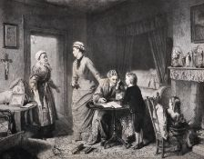 "After William Powell Frith (1819-1909) British. ""The Road to Ruin; College"", Lithograph, 13.5"" x"