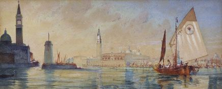 "John Wharlton Bunney (1826-1882) British. ""Sunset after Rain – Venice"", Watercolour, Signed and"