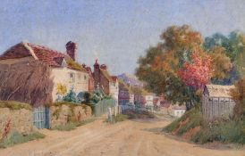 "Byron Cooper (1850-1933) British. ""Haslemere Village"", ""A Little Street Half Garden and Half House"","