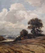 The Reverend John Louis Petit (1801-1868) British. 'Near Stafford', a Landscape, Watercolour,
