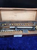 Antique Tool In Fitted Wooden Case.