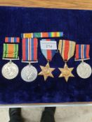 5 Assorted WW2 Medals to include 2 Ribbon bars.