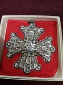 Large silver Cross Reed & Barton Christmas bobble with box.