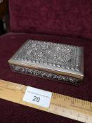 Contential silver decorative box..