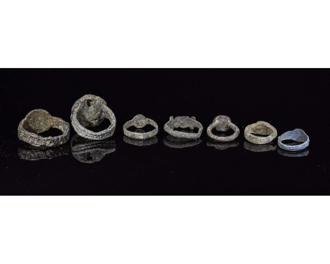 Lot 41 - COLLECTION OF MEDIEVAL PEWTER RINGS