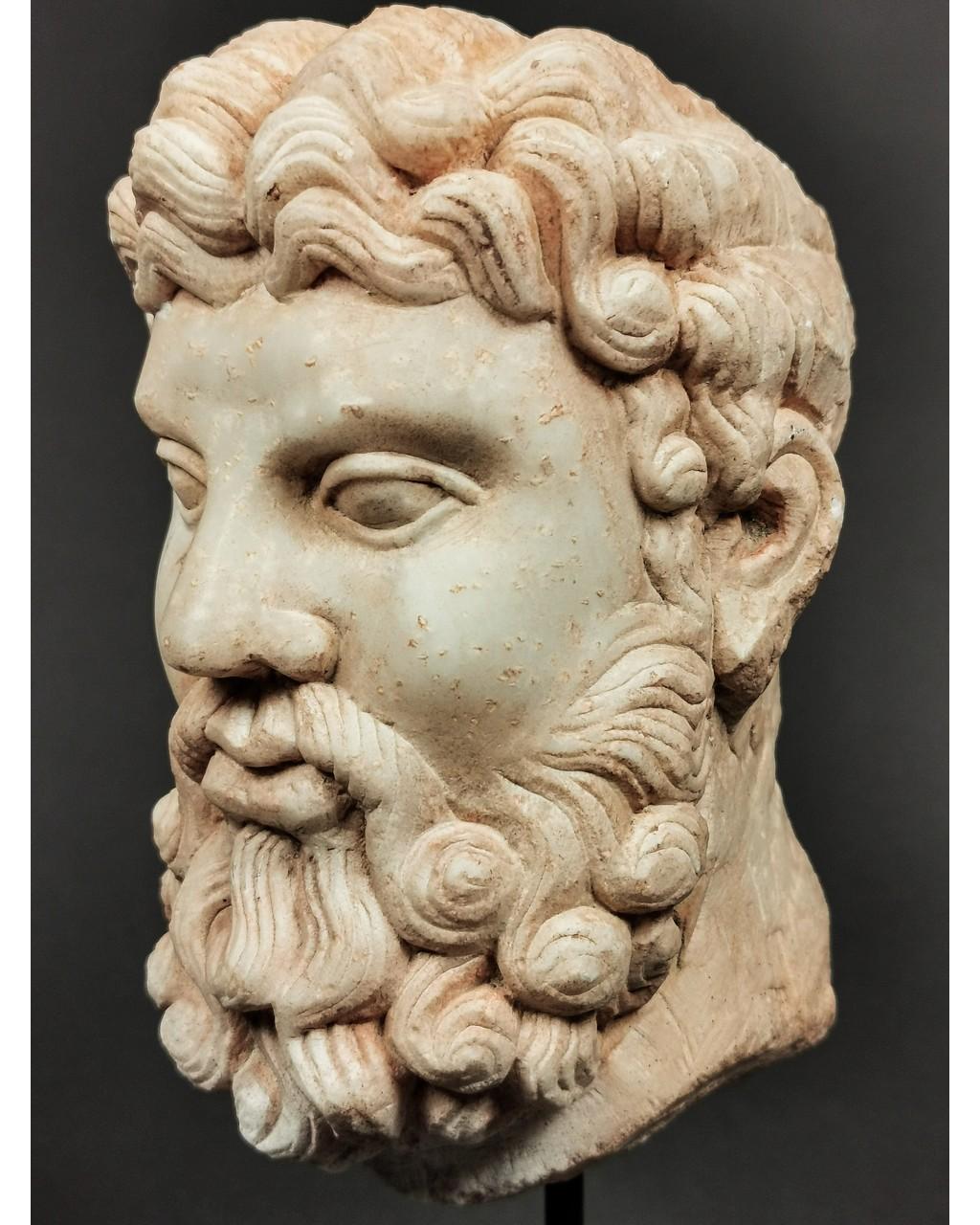 Lot 301 - A ROMAN MARBLE HEAD OF HERCULES