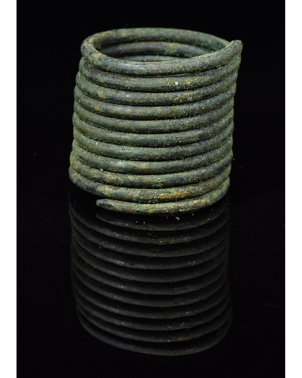 Lot 8 - VIKING COILED BRONZE RING