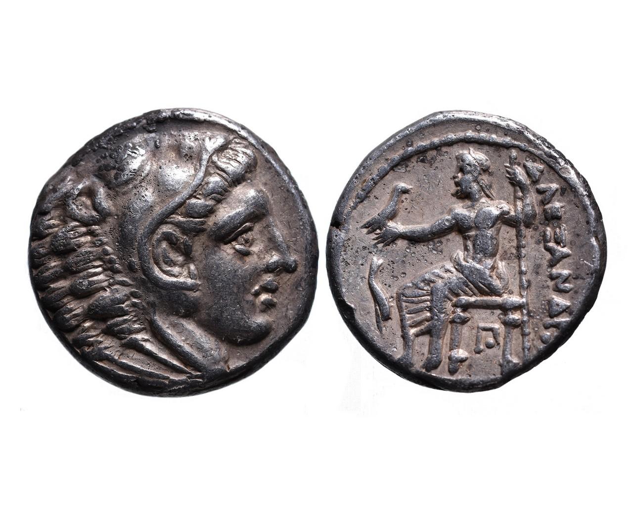 Ancient Greek AR tetradrachm Alexander III the Great