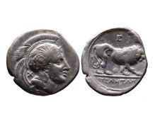 Ancient Greek AR didrachm Velia