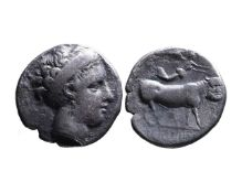 Ancient Greek AR didrachm Neapolis