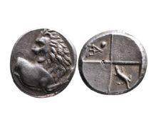 Ancient Greek AR hemidrachm Chersonesos