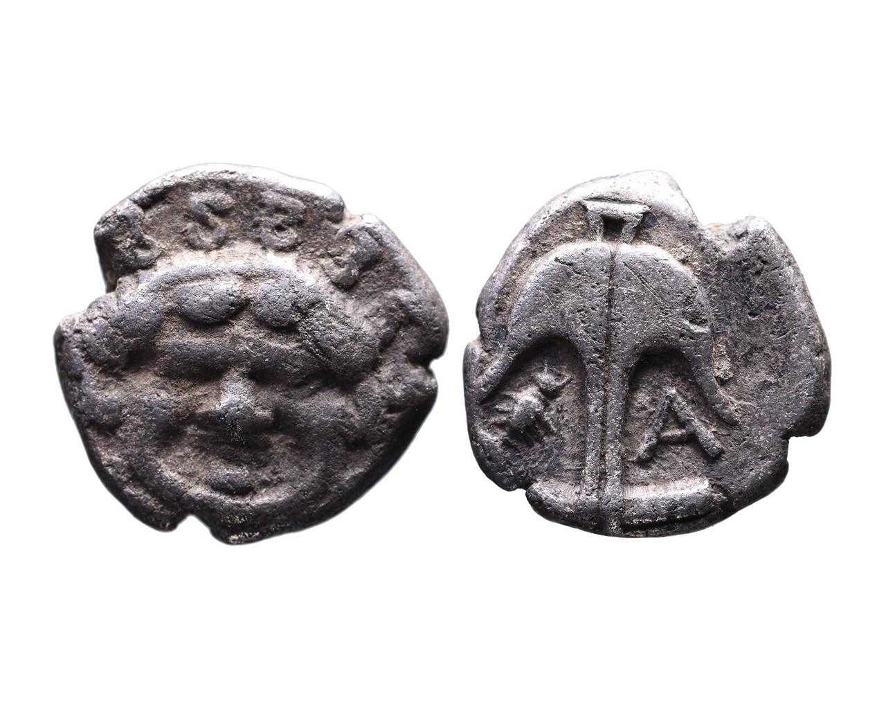 Ancient Greek AR drachm Apollonia